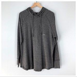 Eddie Bauer Marled Gray Hooded Pullover Size 2XL